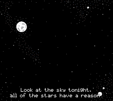 Look at the sky tonight - pixel gif by sweetyrose