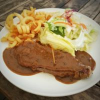 Sirloin Steak by nosugarjustanger