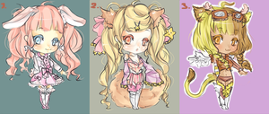 [CLOSED] {AUCTION} Chibi Animal Adoptables by maributt