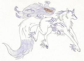 a Purple Okami by MasterofWolves99