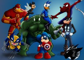 Disney Avengers Assemble by Nanaki-angel23