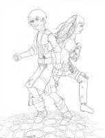 RS - Jack and Riddley Lineart by Pabbit-da-rabbit