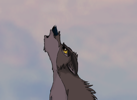 OLD: Balto Howls by EmberWolfsArt