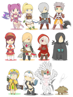 Dragon Nest Chibis by Rong-Rong