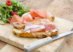 Welsh Rarebit and Parma Ham by iconsPhotography