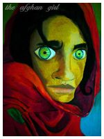 The Afghan Girl by wokwikyen