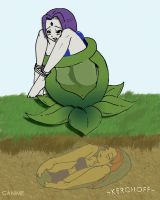 Raven and Starfire Plant Vore by Kerchoff2006
