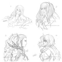 1# Sketches Guild Wars by TsuchiKuroi