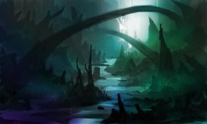 Quick environment sketch8color by Lyno3ghe