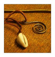 Spiral pendant and cowry by StuartLohe