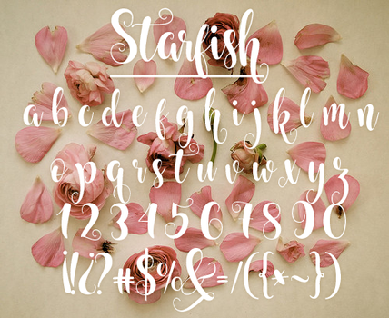 Starfish FONT by oursheartsps