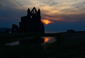Whitby Abbey Sunset II by irwingcommand