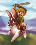 Link on a Bunny Commission by scriptKittie