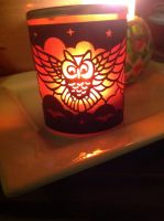 Owl candle cup by longshot09