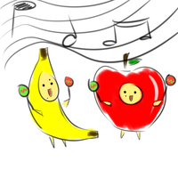 .:Gaia:. Apple and Banana by The-Doodle-Master