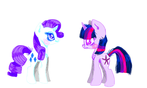 Rarity and Twilight by GGFOX22