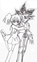Yugi and Rebecca by yoskos