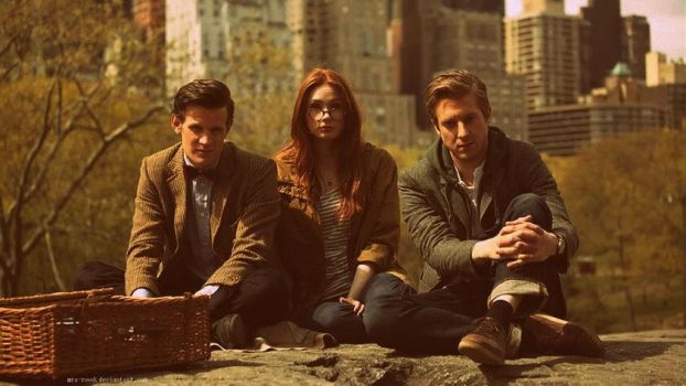 Doctor, Amy and Rory by Mrs-Reed
