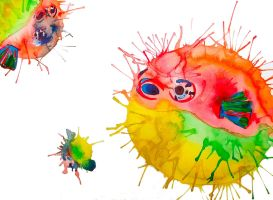 Rainbow Pufferfishes by LucyLooStudios