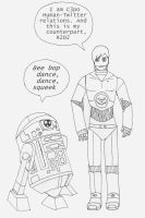 C3PO and R2D2 of FOB by Seraph5