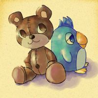 Teddy and Penguin by mari-chocolat