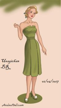 40s-Fashion-Tinker Bell by UsagichanBR