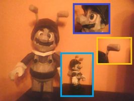 Bee Mario Papercraft by Sabi96PapercraftBox
