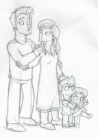 The Simpsons: Anna, Ben, and Kids by The-StarDog