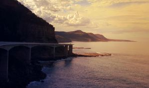 Seacliff Bridge Sunrise by W00den-Sp00n