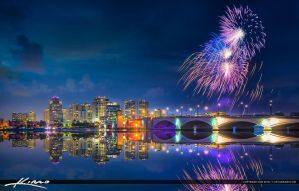 West-Palm-Beach-Fireworks-Display-at-Waterway-for- by CaptainKimo