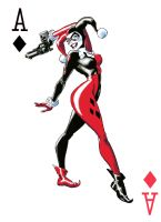 Ace of Diamonds - Harley Quinn by AxainKris