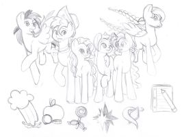 Across the Waters Main Cast Sketch by Wildnature03
