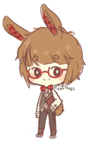 Solo Adopt #04: Red Plaid Bunny - CLOSED by PizzaHugs