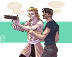 Crossover Trade - Blondies and Guns by Fidi-s-Art