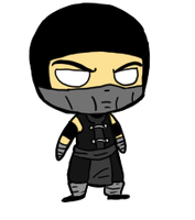 Little Noob Saibot by Toringotopocastor