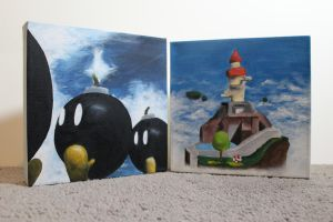 Mario 64 Mini Paintings by PixelCollie
