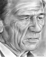 Tommy Lee Jones by gregchapin
