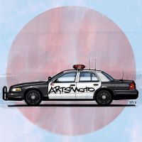 Artsmoto Crown Vic Police Car by monkeycrisisonmars