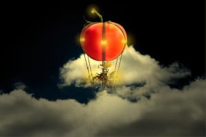 Flying Tomato Steampunk by Robotlick