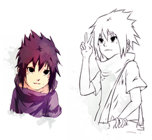 Sasuke Carefree wips by kivi1230