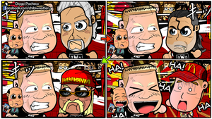 Brock Lesnar Stares the NWO - WWE Chibi Comic by kapaeme
