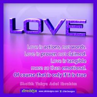 Love is Actions NOT words by abuKhashiyah