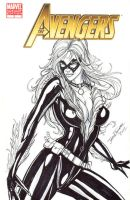 Black Cat Sketch Cover Commission by jamietyndall