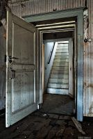 Stairs behind the door by ZerberuZ