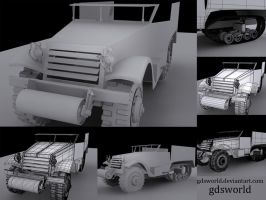 Half-track WIP Uni project by GDSWorld
