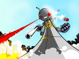 EGG ROBOT ARGH BOOM ATTACK by FargalEX