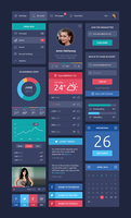 Flat Design UI Components by GraphicBurger