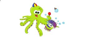 My Weirdest Octopus and Mushy by MrOwlerNoble