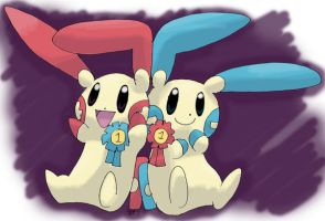 Fav PKMN 09 Plusle and Minun by PachirisuLuva