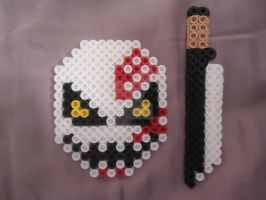 Ichigo's Mask and Sword by PerlerHime